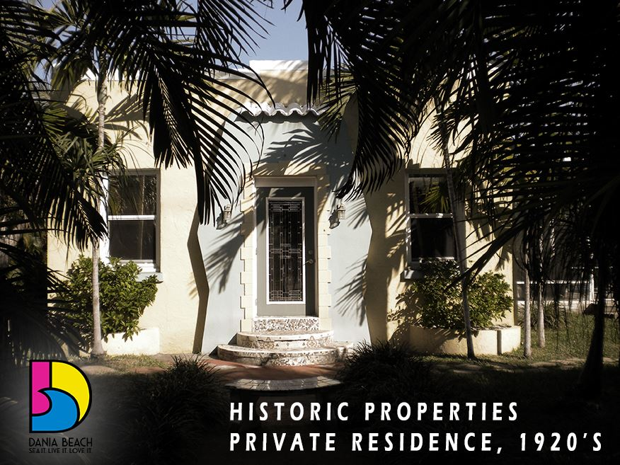 Private Residence 1920s Dania Beach Historic Properties