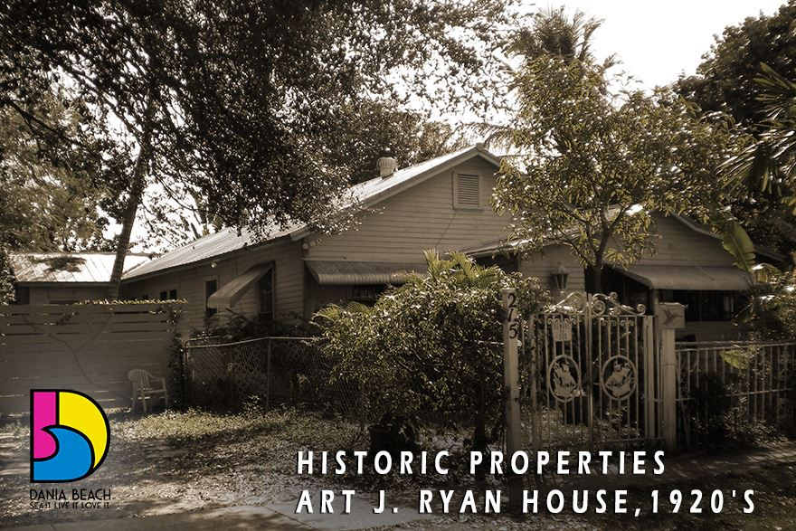 Art J. Ryan House 1920's Dania Beach Historic Properties