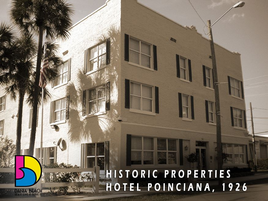 Hotel Poinciana 1926 Dania Beach Historic Properties