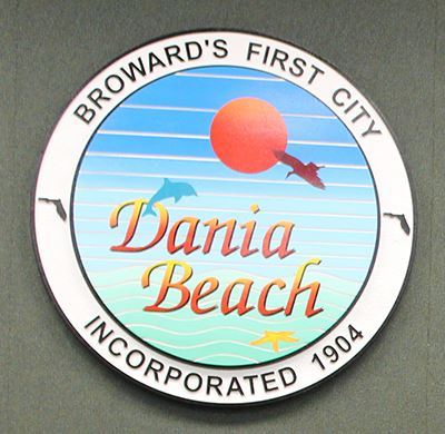 Dania Beach Historic Seal from 2002 to 2018