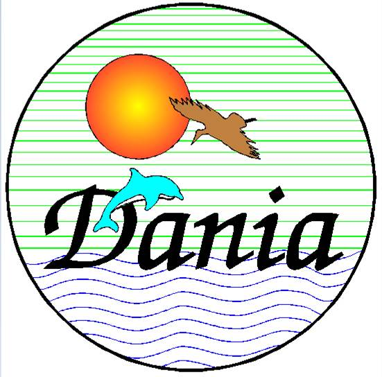 Dania Beach Historic Seal before the name change from Dania to Dania Beach in 1998