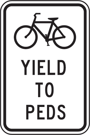 Bicycles must yield to pedestrians, Dania Beach Safety