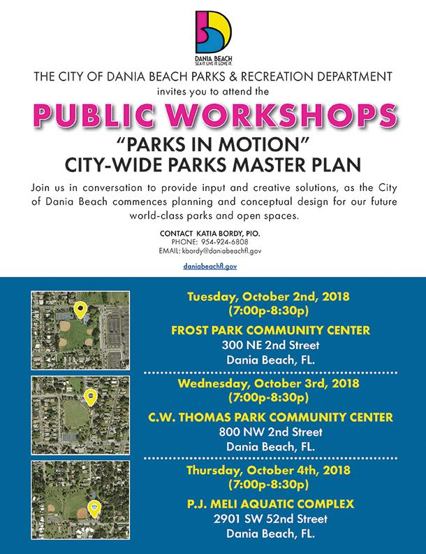 Dania Beach Parks Masterplan Workshops