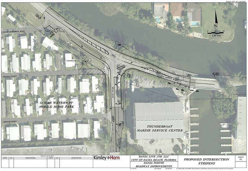 Proposed Intersection striping Old Griffin / Bryan Intersection Construction in Dania Beach