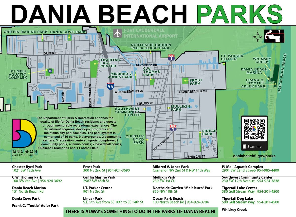 Dania Beach Parks Map and Listing. There is always something to do in Dania Beach Parks!