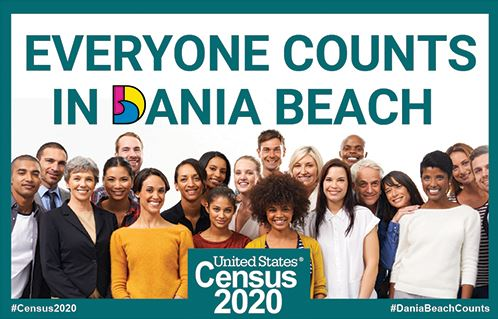 Census 2020 SM - Everyone Counts in Dania Beach Florida