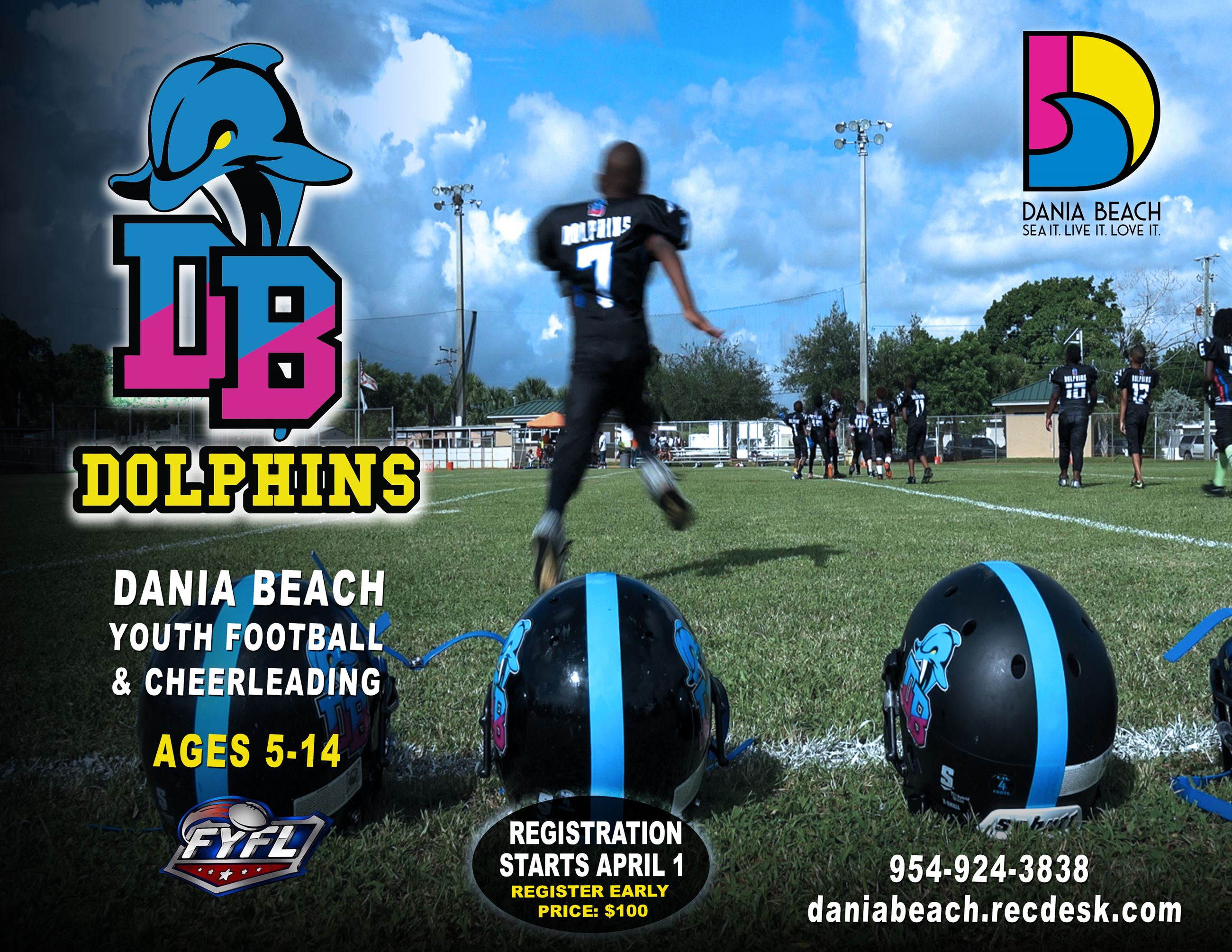 Dolphins Football 2020 Dania Beach Youth Football and Cheer-leading