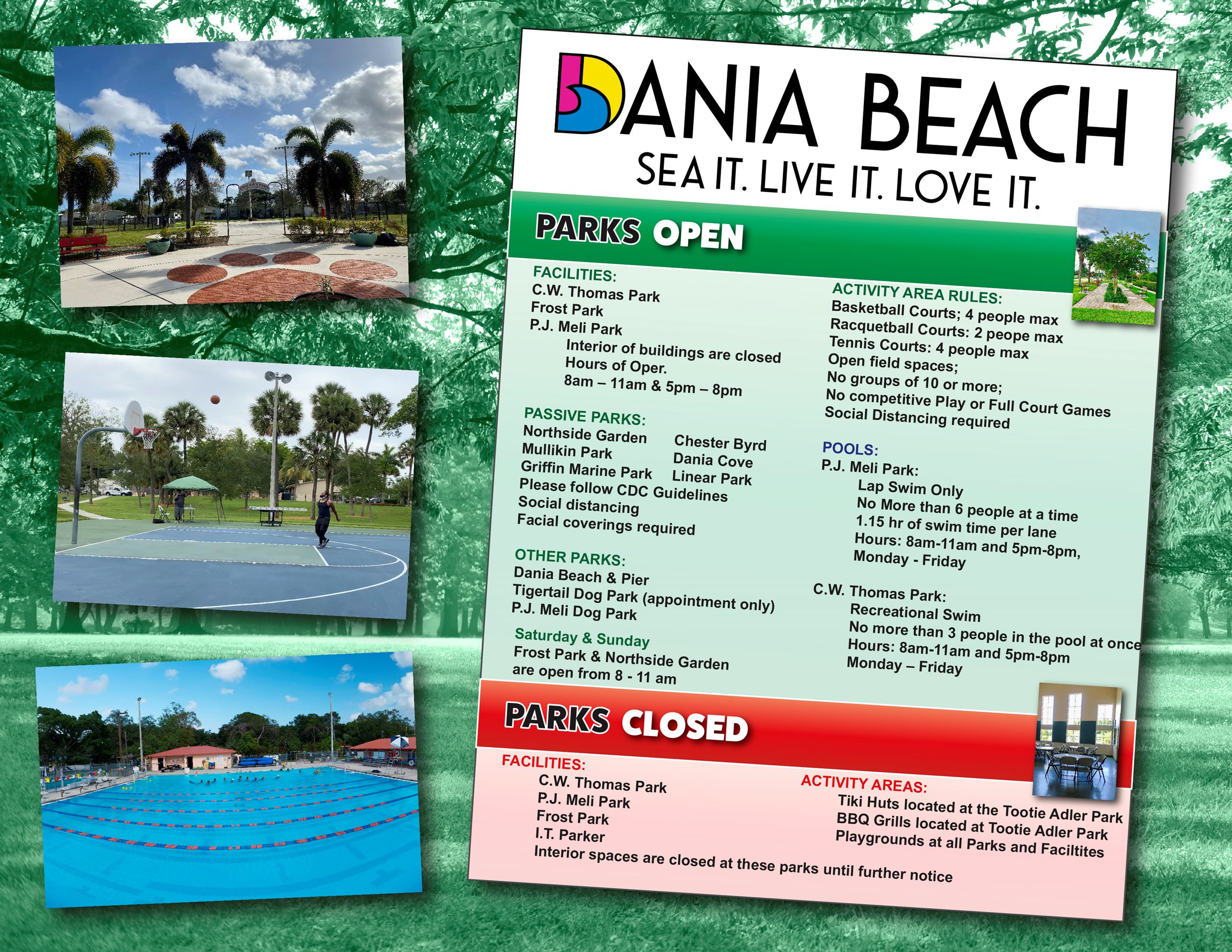 Dania Beach Parks update during Covid19