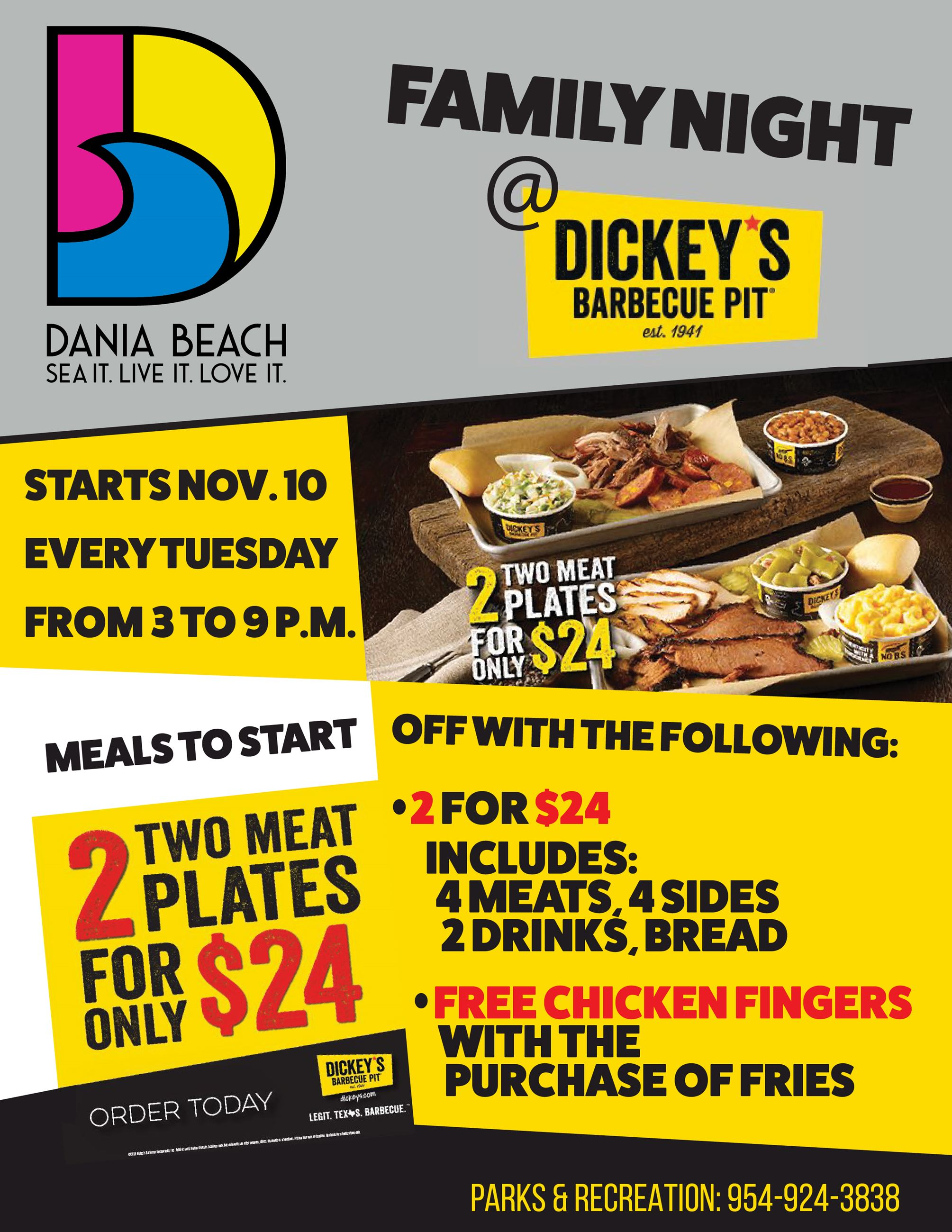 Family Night at Dickeys Dania Beach