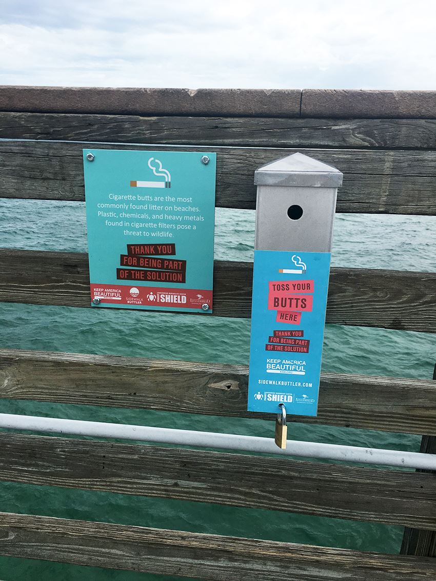 Cigarette Receptacles - Our ocean is not an ashtray