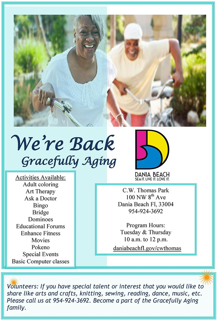 Gracefully Aging at CW Thomas Park Dania Beach